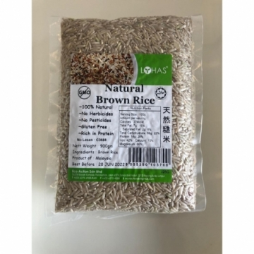 NATURAL BROWN RICE 900G