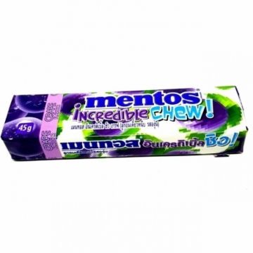 MENTOS INCREDIBLE CHEW GRAPE 45G