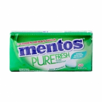MENTOS PURE FRESH TIN SPEARMINT 35G