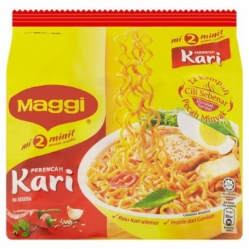 Maggi 2 Minutes Curry (5 x 79G)