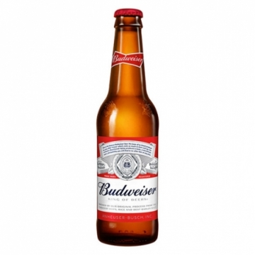 Budweiser Beer Bottle 355ML