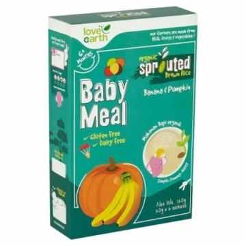 ORGANIC SPROUTED BROWN RICE BABY MEAL 120G (BANANA & PUMPKIN)