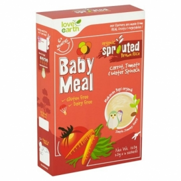 ORGANIC SPROUTED BROWN RICE BABY MEAL 120G (CARROT)