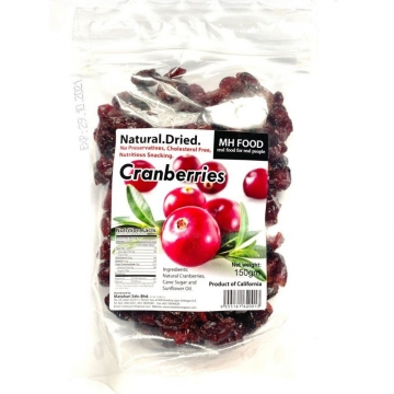 NATURAL DRIED CRANBERRIES 150G
